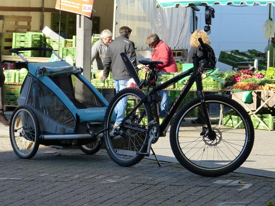 carriole à vélo